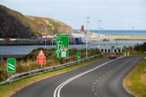 fishguard port image on trunk road network