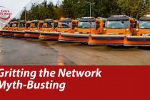 Traffic Wales - Gritting the network myth-busting & gritter image.