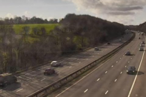 M4 junction 34 to 35 cars on the motoway